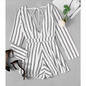 Pants - NEW Sun-sational Striped White Romper